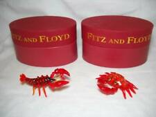 Fitz and Floyd Glass Menagerie Crab & Lobster w/ Original Boxes