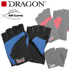 Neoprene Gloves Dragon Lure fishing tackle black blue red cut fingers anti-slip