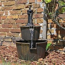 CLGarden Holz Design Springbrunnen DSB1 für Garten Balkon Terrasse Brunnen