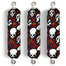 Red Skull Shock Covers Honda Fourtrax Rancher 350 420 Recon 250 (Set 3) NEW