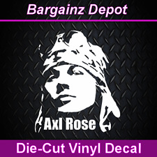 .. Vinyl Decal .. AXL ROSE ..Guns N' Roses Laptop Car Sticker Decal