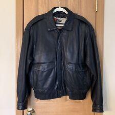 Vintage Wilson's Soft Men's Leather Jacket Bomber Adventure Bound Large