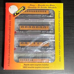 N Scale Athearn CNW 50' Overland passenger car 4-pack - Chicago & Northwestern