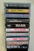 WILLIE NELSON, RANDY TRAVIS, HANK WILLIAMS, JR.COUNTRY CASSETTE LOT