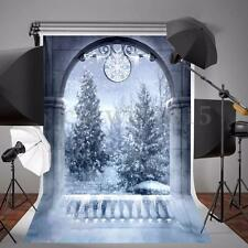 Christmas Winter Snowflake Wall Vinyl Photography Background Backdrop Prop 5x7FT