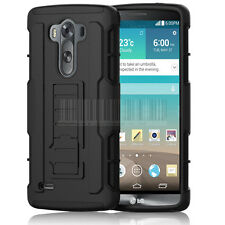 Heavy Duty Hybrid Shockproof Stand Armor Hard Case Cover For LG G3 D850 D855