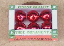 1:12 Scale 6 Christmas Tree Decorations Baubles In A Box Dolls House Xmas Red