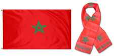 "Wholesale Combo Set Morocco Moroccan Country 3x5 3'x5' Flag and 8""x60"" Scarf"