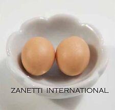 20 Dollhouse Miniature Fried Eggs Doll Mini Food Tiny Egg Breakfast