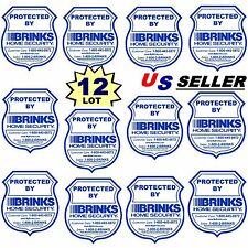 12 Home Security Alarm System Window Burglar Warning Sticker Decal Signs