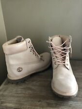 Timberland Leather Boots Soft Pink Womens Size 9