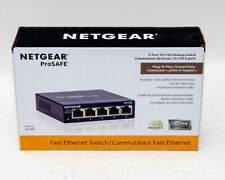 Netgear ProSafe FS105 5-Port 10/100 Desktop Ethernet Switch (new in box)