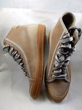 ON SALE- Gorgeous BRUNELLO CUCINELLI, Leather Hightop Ladies Shoes, Gray Canvas