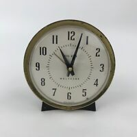 Vintage Westclox Big Ben Alarm Clock Metal Round Polka Dot Face For Repair Parts