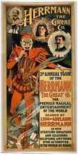 Herrmann 3 A4 Photo Print Magic Magician Vintage