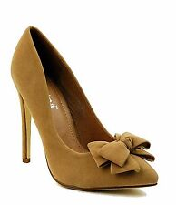 Womens High Heel Stiletto Classic Pump Bow Party Cocktail Evening Dress Shoes