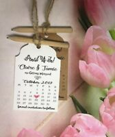 Pencil Us In Calendar Save the Date Tags Rustic Cards with Envelopes Wedding PT3