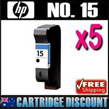 5x Black Ink for HP 15 C6615A Deskjet 940c 940cvr 940cw 940cxi 948c