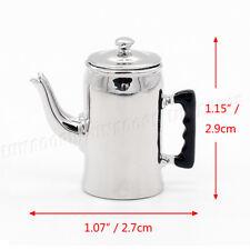 1:12 Dollhous Miniature Cold Water Jug Silver Pot Kettle Kitchen Accessory Decor