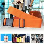 Adjustable Suitcase Luggage Straps Travel Baggage Tie Down Belt Lock Orange MT
