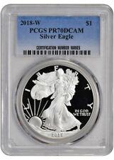2018-W American Silver Eagle Proof - PCGS PR70 DCAM