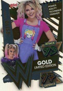 WWE Slam Attax 2021 Trading Card LE04G Gold Alexa Bliss Limitierte Karte