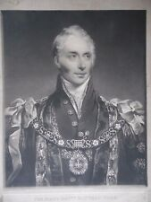 Portrait Hon. Matthew Wood,Lord Mayor of London. Stunning 1817 Mezzotint