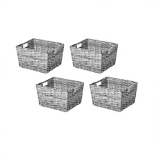 Member's Mark Decorative Woven Storage Baskets, Gray (Set of 4)