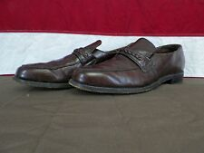 LL Bean Shoes Burgundy Leather Dress Casual Loafers Men's Size 10M