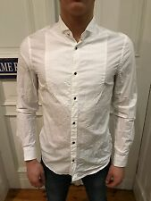 H&M Business Hemd Freizeithemd Gr. S weiß unifarben 100% Baumwolle wie NEU