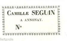 EX-LIBRIS de Camille SEGUIN d'Annonay.