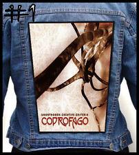 COPROFAGO  --- Huge Jacket Back Patch Backpatch --- Various Designs