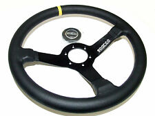 Sparco Steering Wheel - R345 (350mm/63mm Dish/Leather)