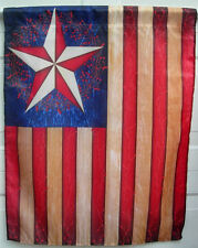 LARGE 28 X 36 SUMMER AMERICANA FLAG VERY NICE NEW FREE SHIPPING