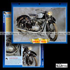 #123.01 Fiche Moto RENE GILLET 250 A 51 1954-1956 Classic Bike Motorcycle Card