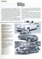 1942 Willys Article - Must See! Coupe, Sedan, Pickup Truck, MA Jeep, Victory Car