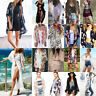 Womens Boho Kimono Cardigan Kaftan Shawl Coat Beach Chiffon Cover Up Blouse