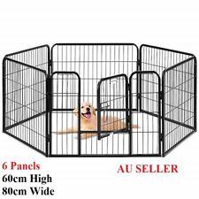 6 Panel 60x80CM Pet Play Pen Portable Cage Fence Enclosure Dog Puppy Rabbit Cat
