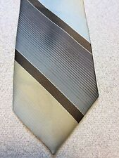 Vintage 7Th Avenue Mens Tie 3.5 X 58 Blue, Khaki And Brown, Nwt