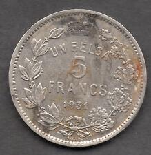 Belgium 5 francs: 1931 coin