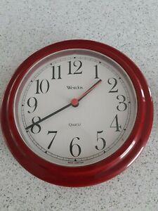 Westclox Quartz Kitchen Clock Red