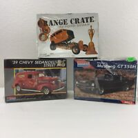 LOT 3 Monogram Model Car Kits Shelby Mustang GT 350H, '39 Chevy Sedan, '32 Ford