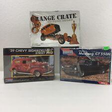 LOT 3 Monogram Model Car Kits Shelby Mustang GT 350H, '39 Chevy Sedan, '32 Ford