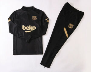 Brand New Nike X Barcelona Training Tracksuit With Tags Black Gold Size S/M/L/XL