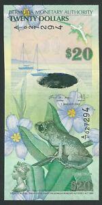 BERMUDA  20 DOLLARS  2009  P-60b   UNC