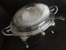 Superb Antique 1890s James Dixon & Sons Silver Plated Dome Shape Tureen & Ladles