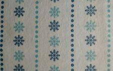 Heartland Cotton Flannel Winter Snowflake Blue & White Sheets KING Heavyweight