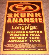 SKUNK ANANSIE LONGPIGS SUPERB CONCERT POSTER TUE 16th JAN 1996 WULFRUN HALL U.K.