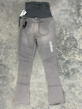 $185 Joes Jeans Distressed Gray Micro Flare Skinny Pants Size 29 New
