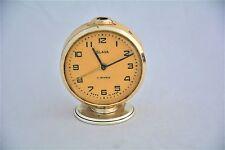 Slava clock Metal Vintage clock Gold color Soviet USSR СССР VC4